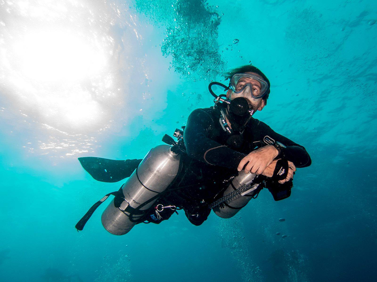 TDI Sidemount specialty course in Playa del Carmen